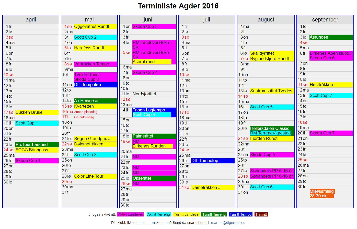 TerminAgder201624