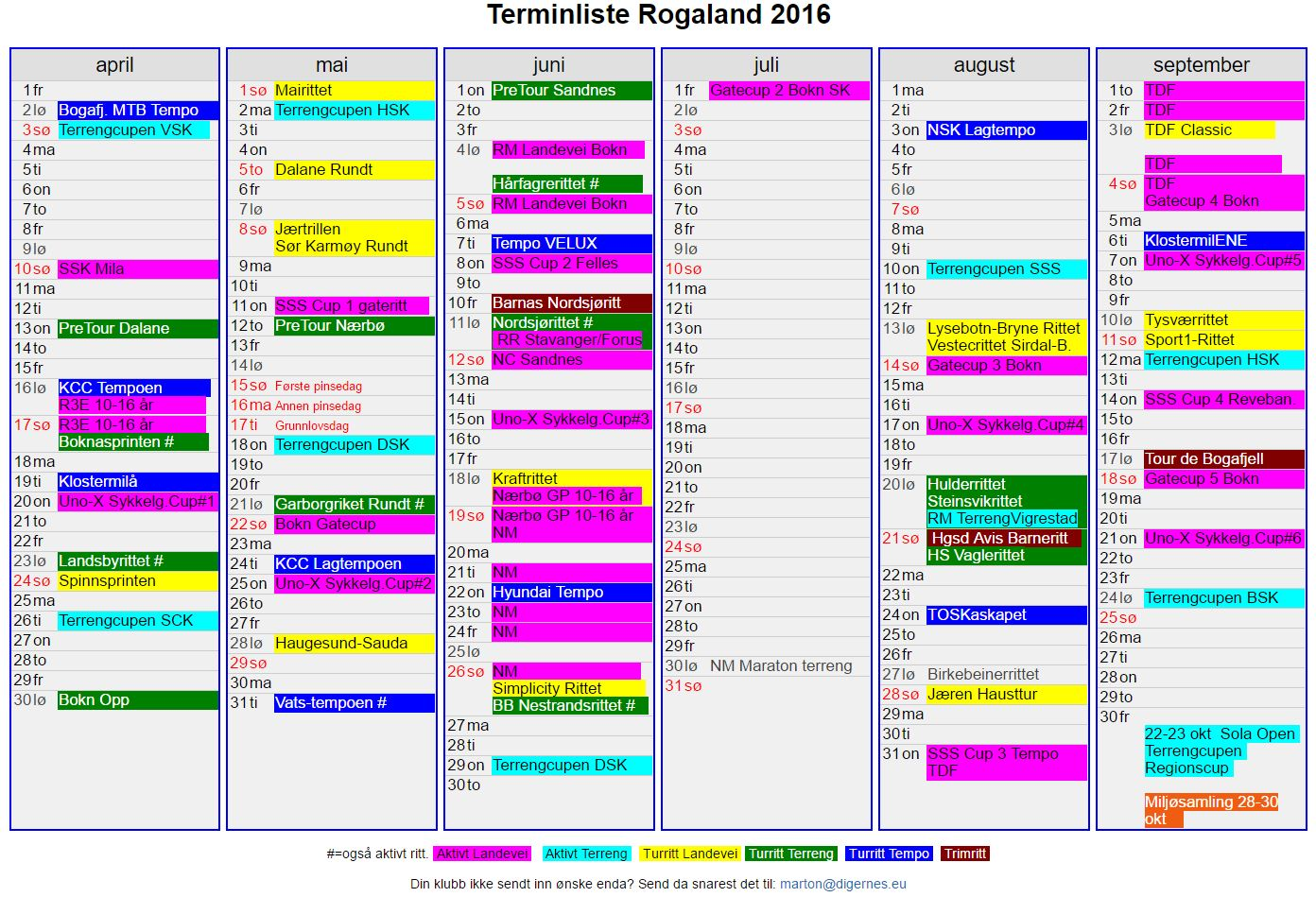 TerminRogaland201626